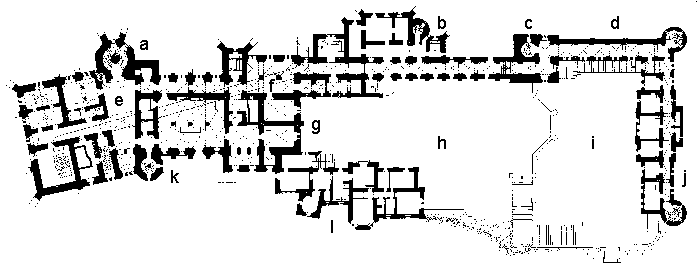 Picture: Plan of the castle complex